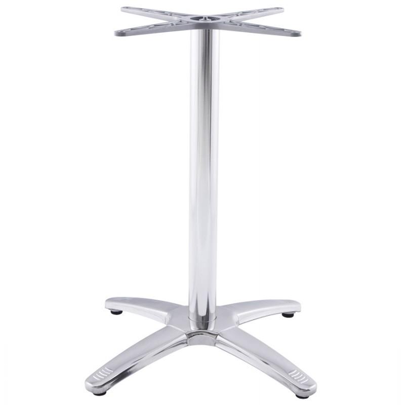 Pied de table AUTAN forme croix métal chromé (63cmX63cmX74cm) (aluminium) - image 17672