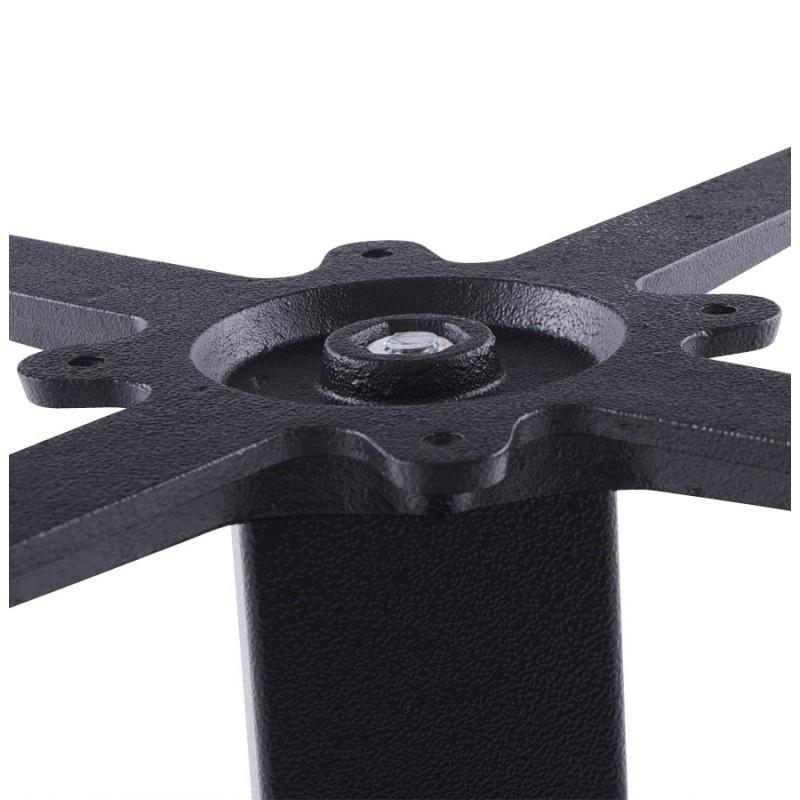 Pied de table BIZ carré en métal (39cmX39cmX44cm) (noir)