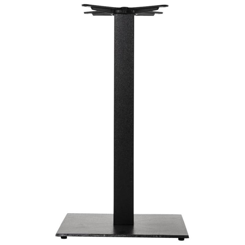 pied de table pary carr en m tal 50cmx50cmx90cm noir. Black Bedroom Furniture Sets. Home Design Ideas