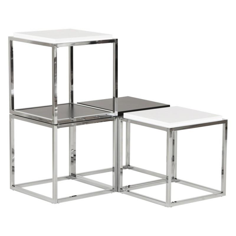 Table d 39 appoint kvadra en bois ou d riv noir for Table d appoint noir