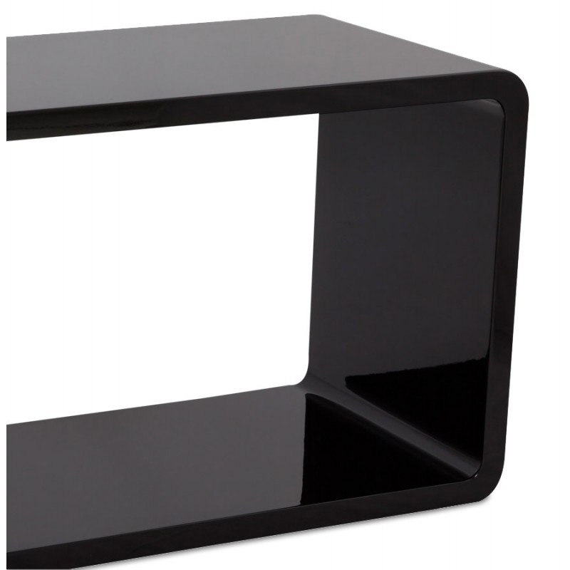 Table de salon RECTO en bois (MDF) laqué (noir) -> Table Salon Mdf