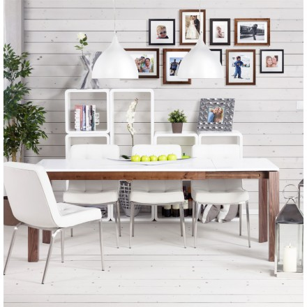 Table De Salon Recto En Bois Mdf Laque Blanc Amp Story 3062