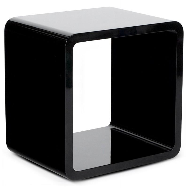 Uso polivalente Cubo de madera VERSO (MDF) lacado (negro) - image 17942