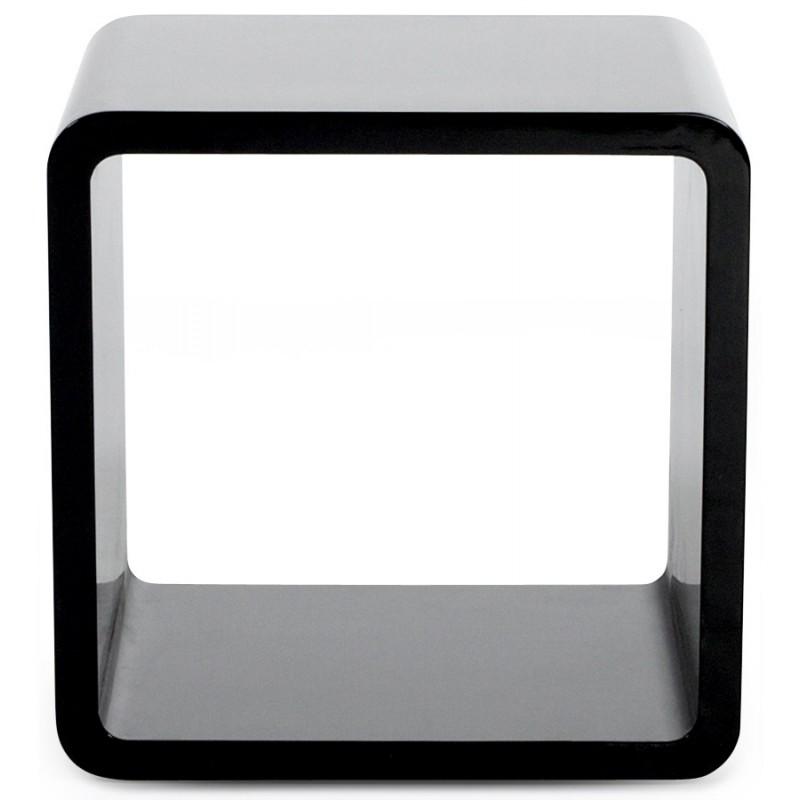 Uso polivalente Cubo de madera VERSO (MDF) lacado (negro) - image 17943