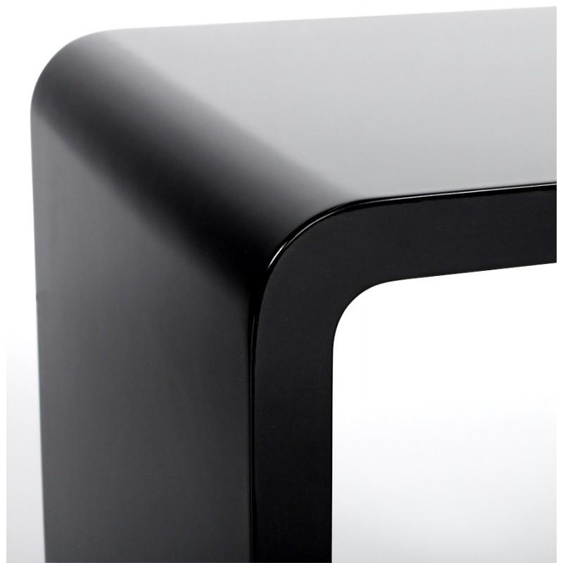 Uso polivalente Cubo de madera VERSO (MDF) lacado (negro) - image 17945