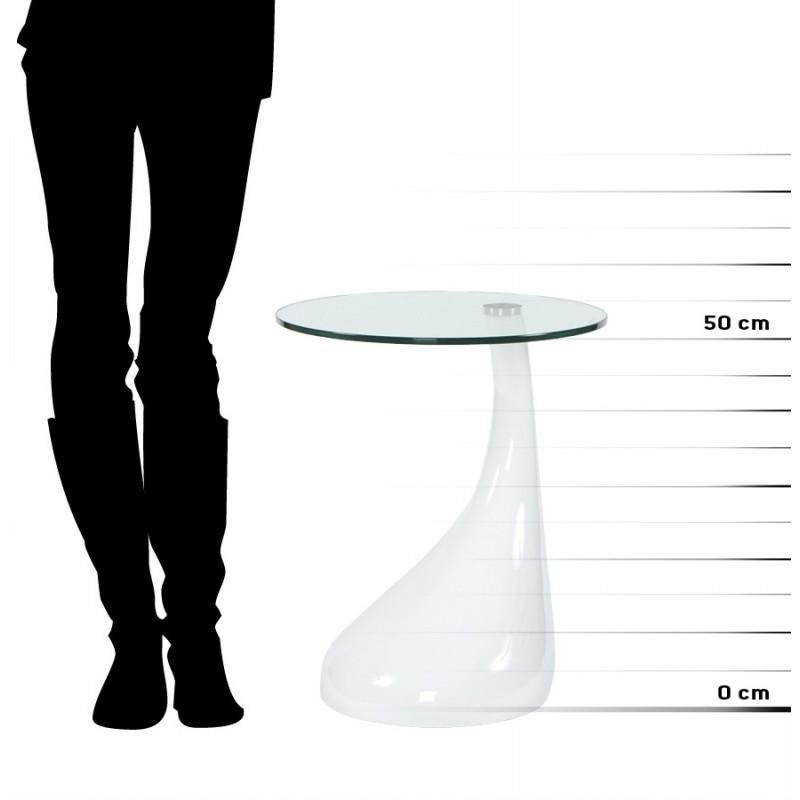 Console or table tarn tempered fiberglass white - Table verre trempe blanc ...