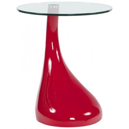 Console ou table d'appoint TARN en fibre de verre trempé (rouge)