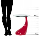 Console or table TARN tempered glass fibre (red)