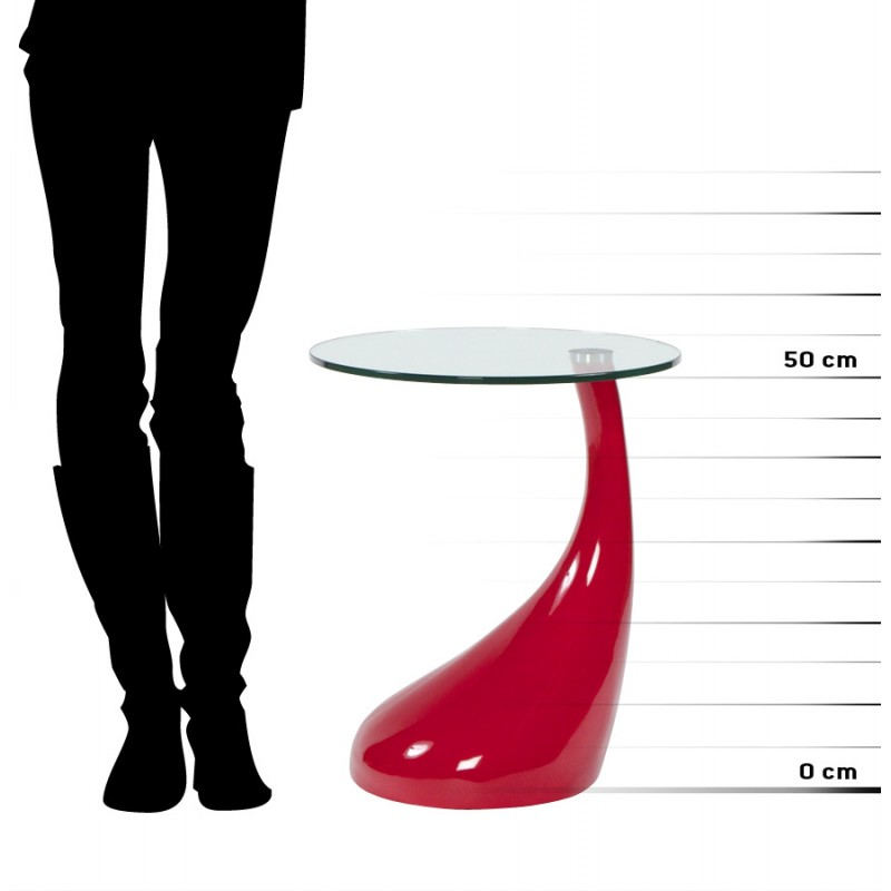 Console or table TARN tempered glass fibre (red) - image 17969