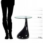 Consola o mesa TEAR de fibra de vidrio templado (negro)