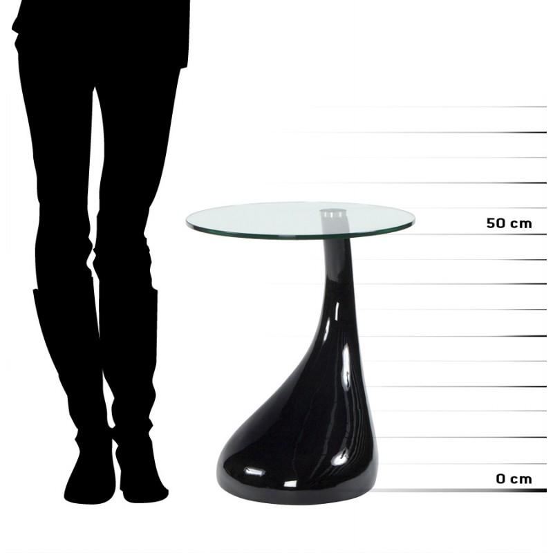 Consola o mesa TEAR de fibra de vidrio templado (negro) - image 17976
