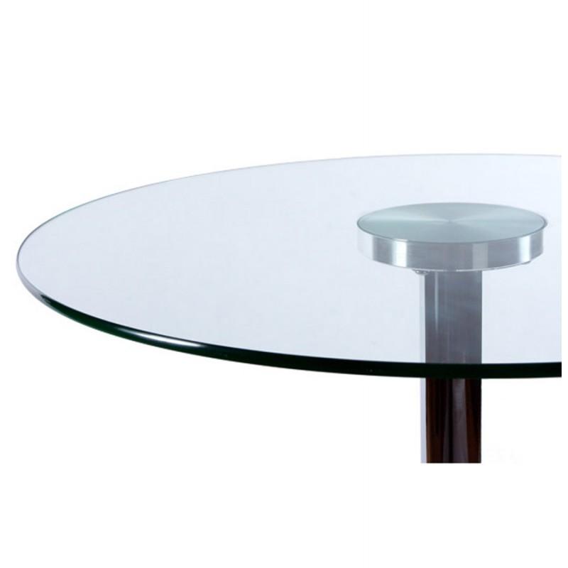mesa redonda vinyl metal y cristal templado transparente cromo. Black Bedroom Furniture Sets. Home Design Ideas
