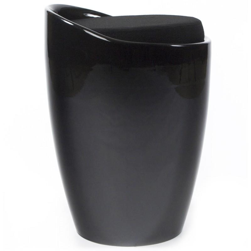 Tabouret coffre YONNE en ABS (matière plastique résistante) (noir) - image 18017