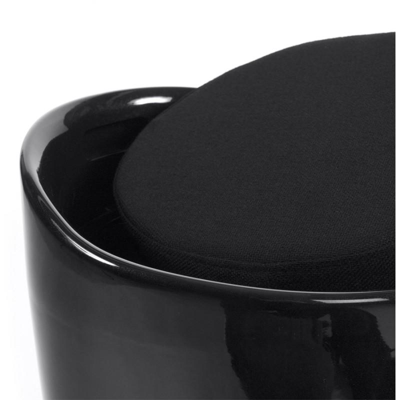 Tabouret coffre YONNE en ABS (matière plastique résistante) (noir) - image 18021