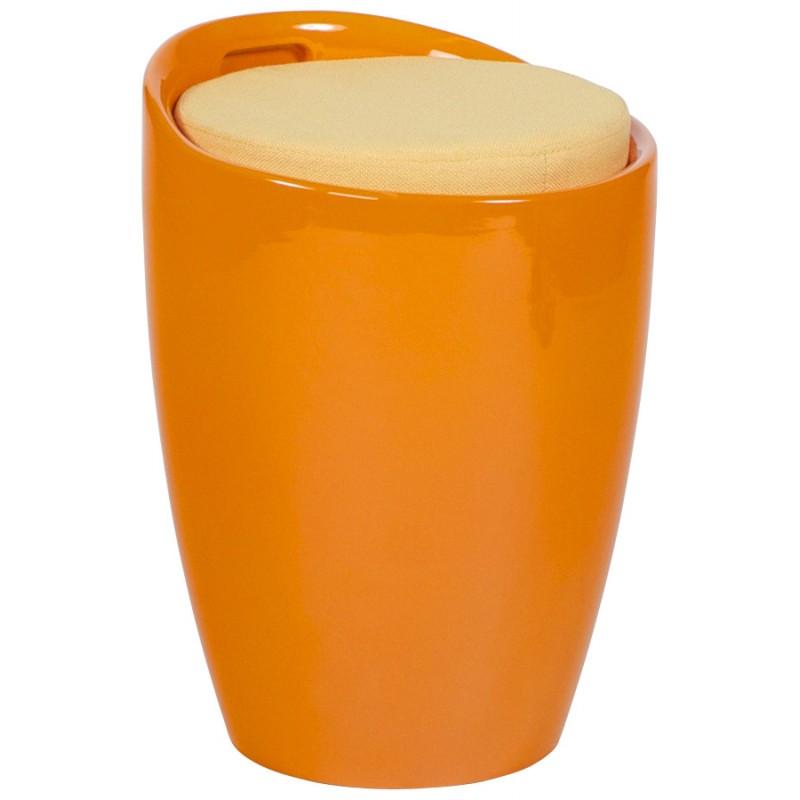 Tabouret coffre YONNE en ABS (matière plastique résistante) (orange) - image 18023