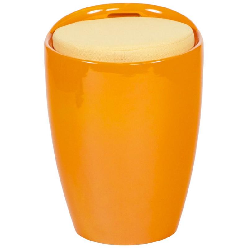 Tabouret coffre YONNE en ABS (matière plastique résistante) (orange) - image 18024