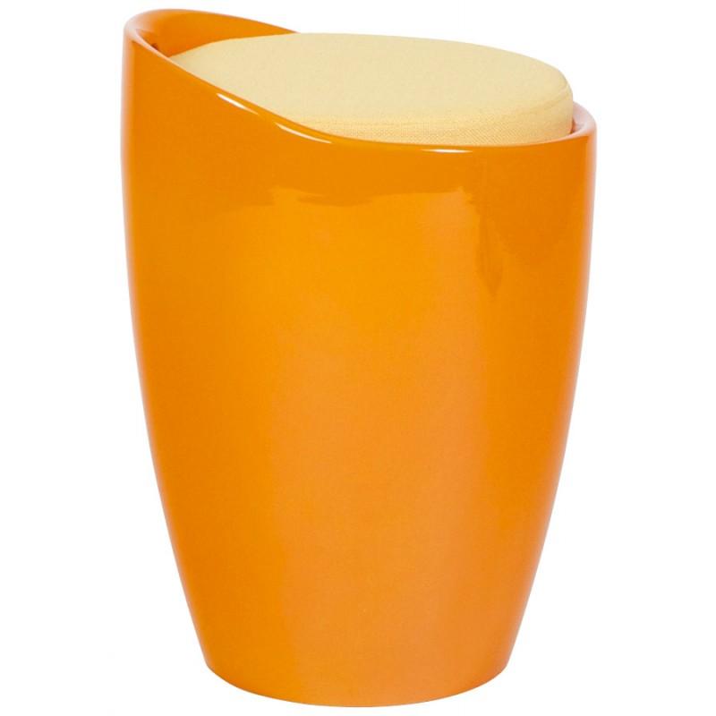 Tabouret coffre YONNE en ABS (matière plastique résistante) (orange) - image 18025