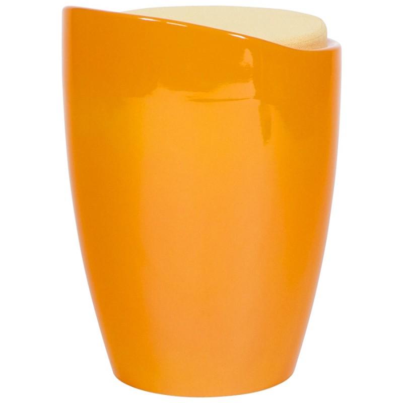 Tabouret coffre YONNE en ABS (matière plastique résistante) (orange) - image 18026