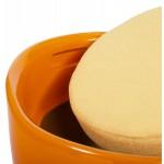 Tabouret coffre YONNE en ABS (matière plastique résistante) (orange)