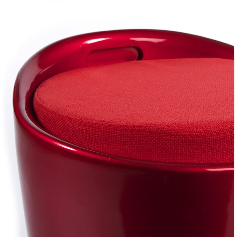Tabouret coffre YONNE en ABS (matière plastique résistante) (rouge) - image 18033