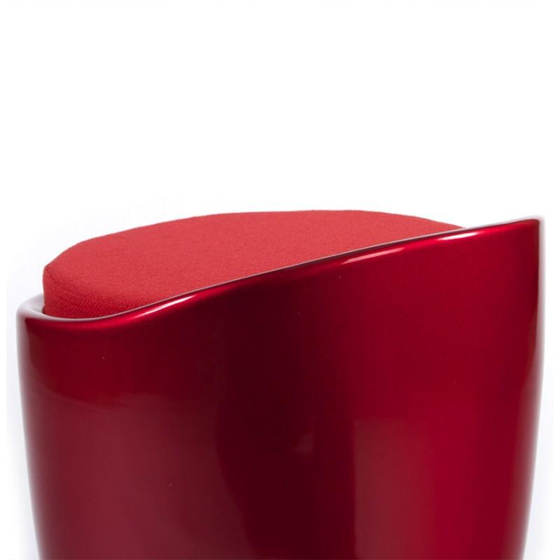 Tabouret coffre YONNE en ABS (matière plastique résistante) (rouge) - image 18034