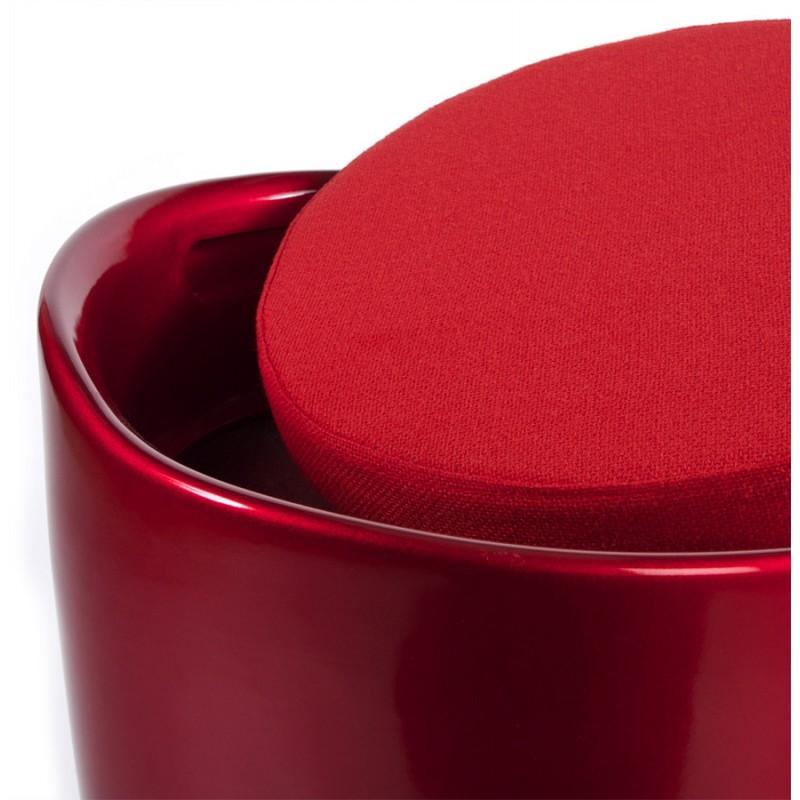 Tabouret coffre YONNE en ABS (matière plastique résistante) (rouge) - image 18036