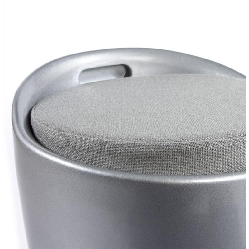 Tabouret coffre YONNE en ABS (matière plastique résistante) (argent) - image 18041
