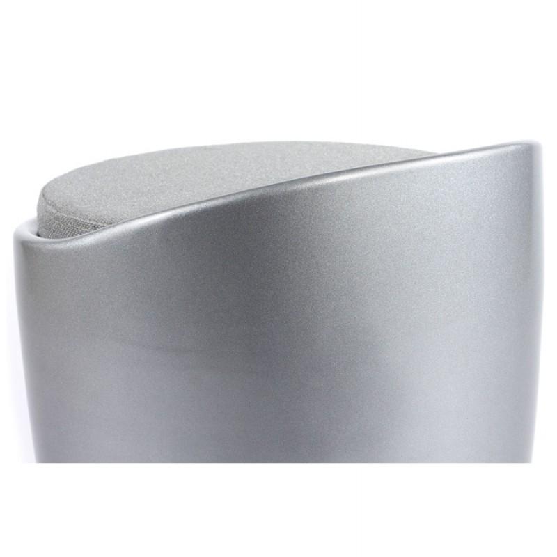 Tabouret coffre YONNE en ABS (matière plastique résistante) (argent) - image 18042