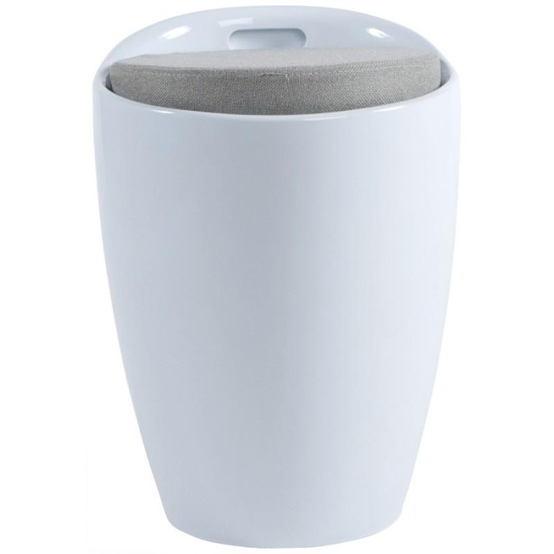Tabouret coffre YONNE en ABS (matière plastique résistante) (blanc) - image 18047