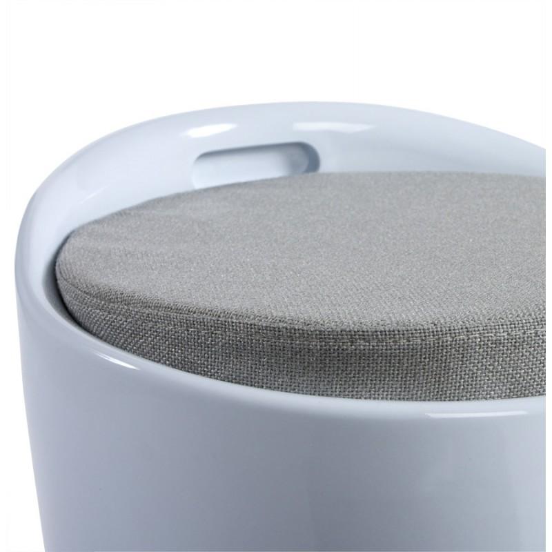 Tabouret coffre YONNE en ABS (matière plastique résistante) (blanc) - image 18049