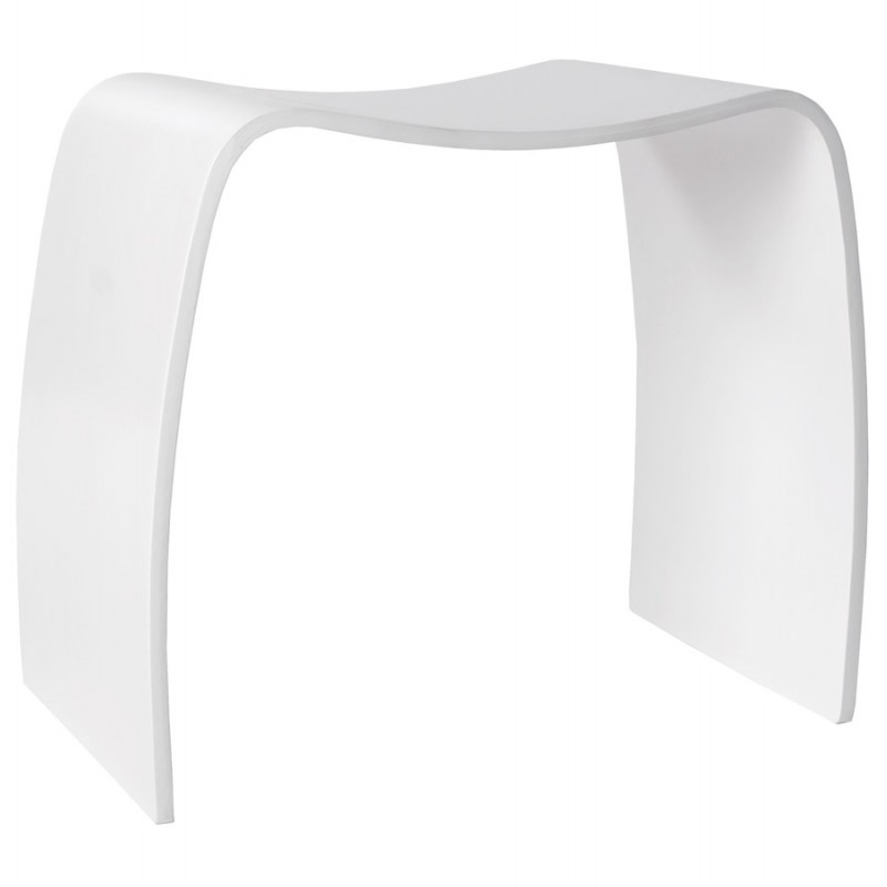 Low stool MEUSE wooden painted (white) - image 18059
