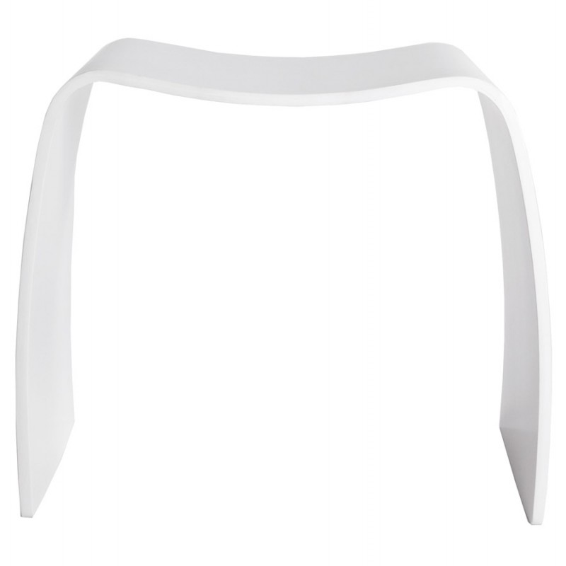 Low stool MEUSE wooden painted (white) - image 18061