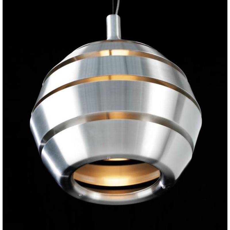 Lampe suspendue design TROGON en métal (argent) - image 18104