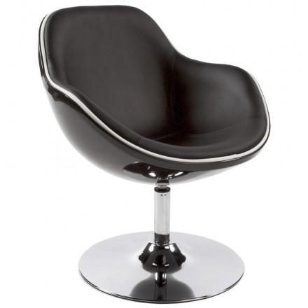 Design armchair RHONE rotary (black)