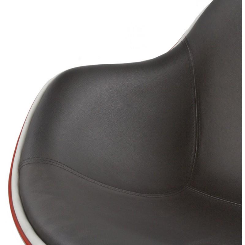 Fauteuil design RHONE rotatif (rouge et noir) - image 18276
