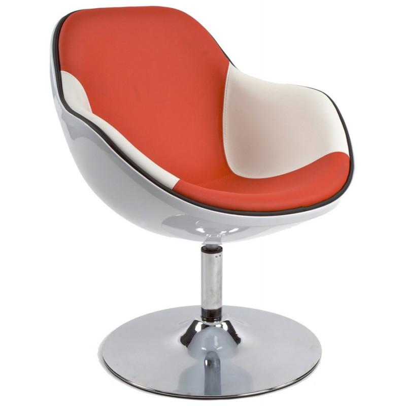 Design-Sessel Dreh RHONE (weiß und rot) - image 18280