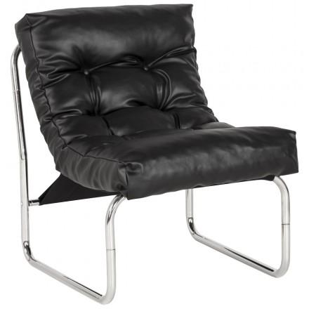 Sessel lounge SEINE polyurethan (schwarz)