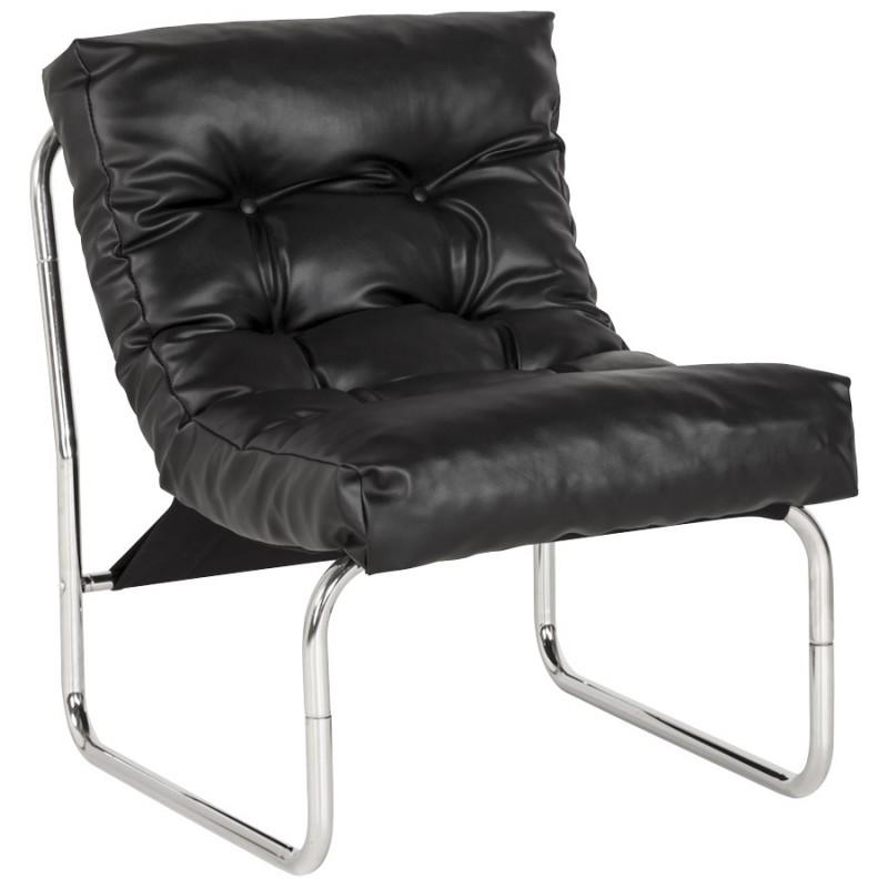 Fauteuil lounge SEINE en polyuréthane (noir) - image 18292