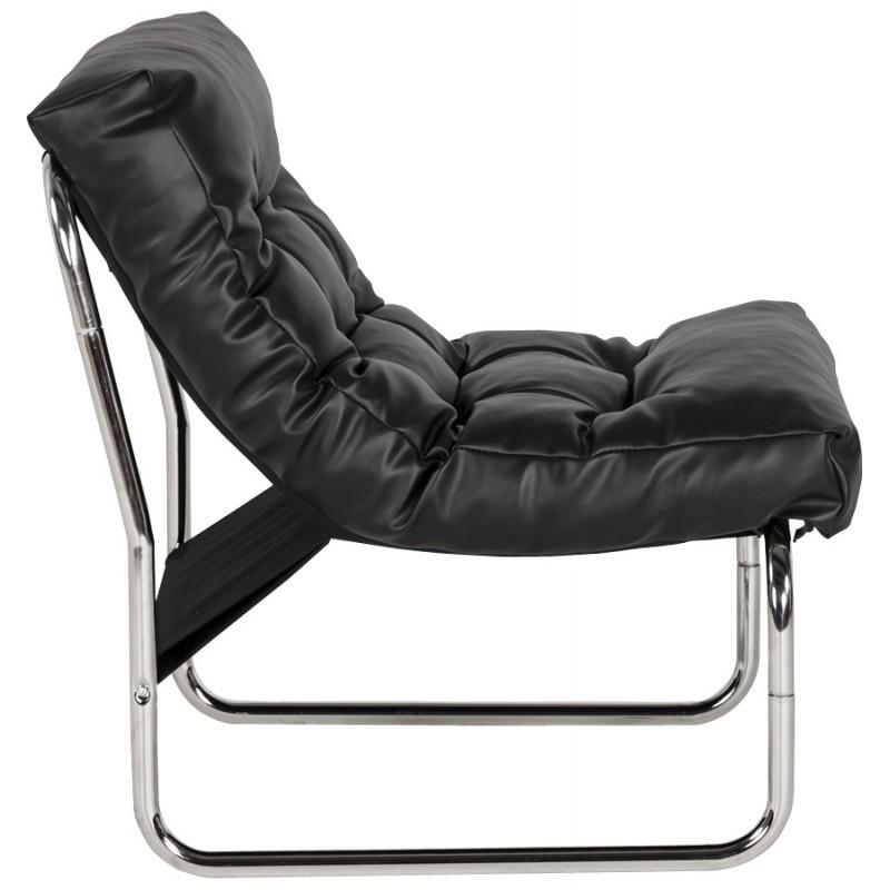 Fauteuil lounge SEINE en polyuréthane (noir) - image 18294