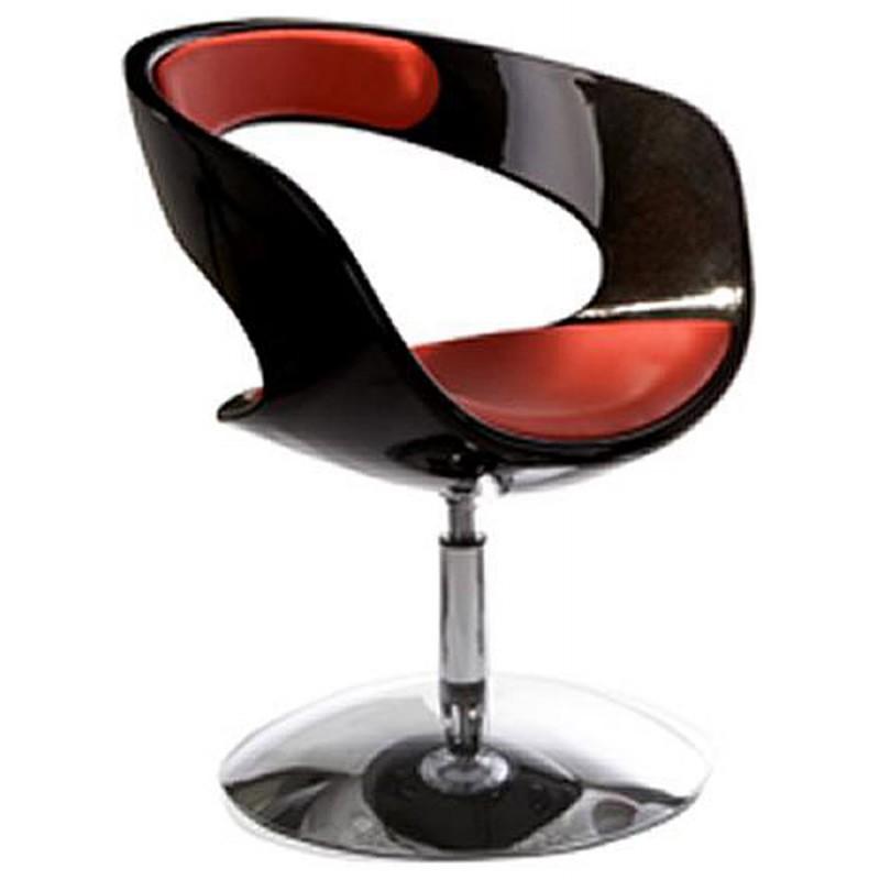 Fauteuil design RHIN en ABS (polymère à haute résistance) (noir et rouge) - image 18320