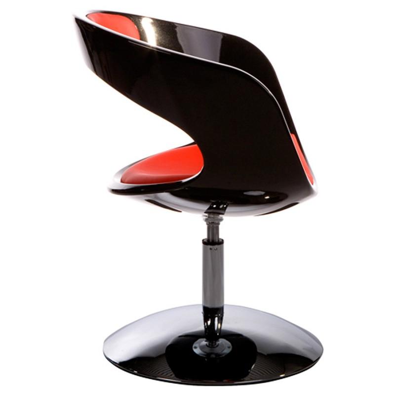 Fauteuil design RHIN en ABS (polymère à haute résistance) (noir et rouge) - image 18322
