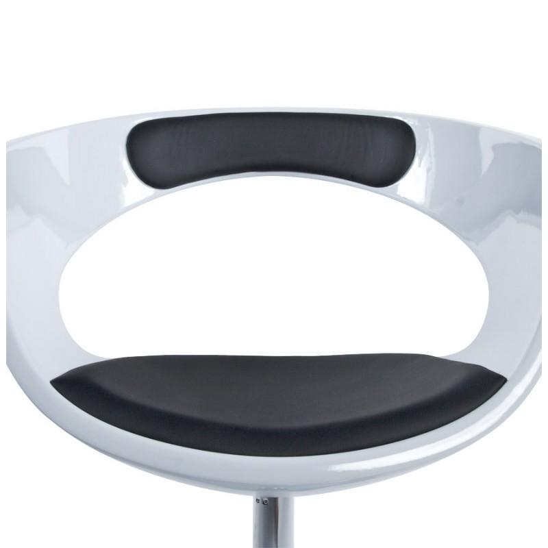 Fauteuil design RHIN en ABS (polymère à haute résistance) (noir et blanc) - image 18331