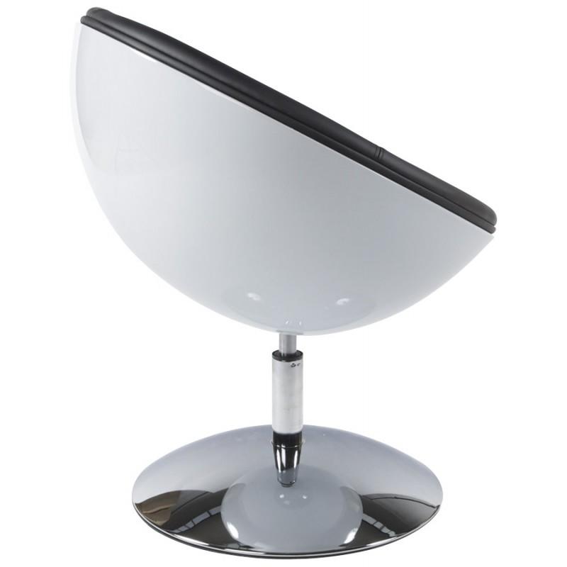 Fauteuil design rotatif GAROE en polyuréthane (blanc et noir) - image 18368