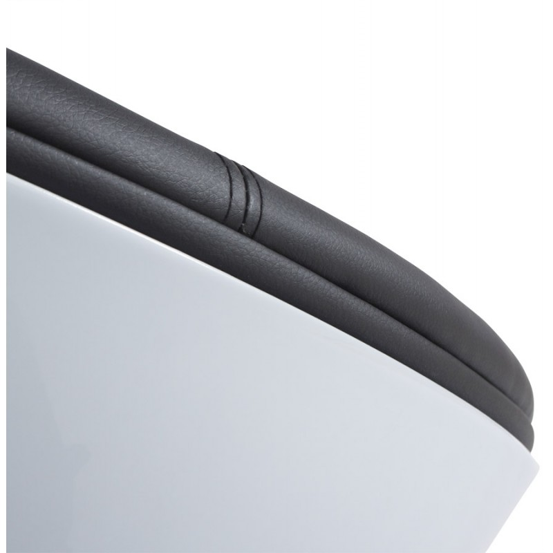 Fauteuil design rotatif GAROE en polyuréthane (blanc et noir) - image 18370