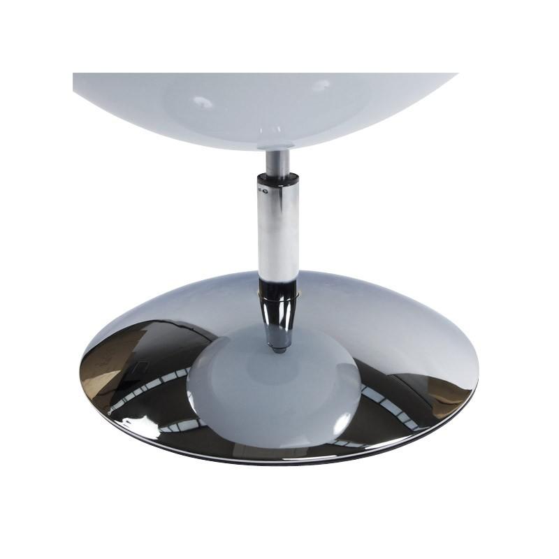 Fauteuil design rotatif GAROE en polyuréthane (blanc et noir) - image 18371