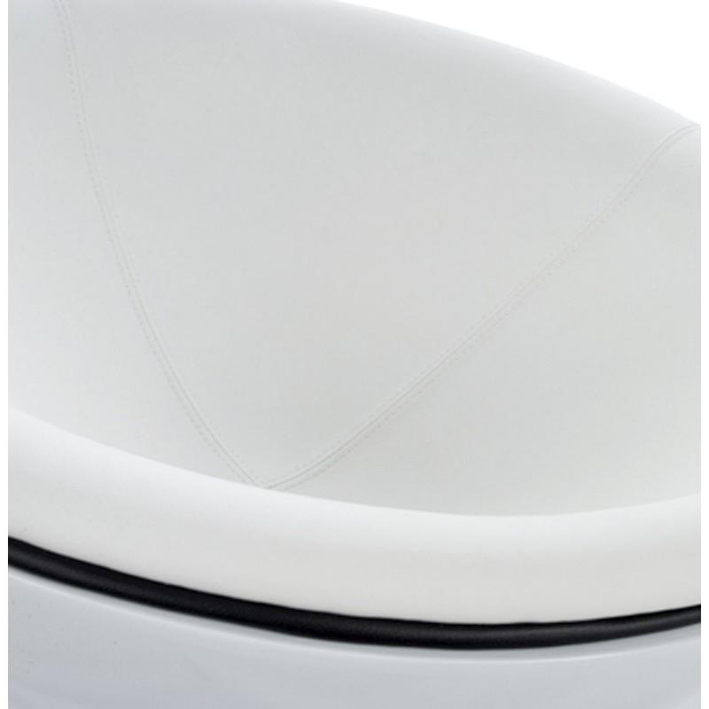 Fauteuil design rotatif GAROE en polyuréthane (blanc) - image 18379