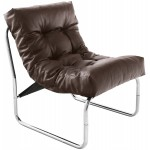 Design lounge armchair ISERE in polyurethane (Brown)