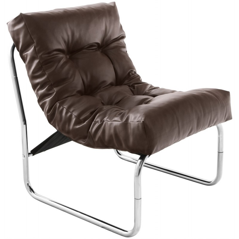 Design lounge armchair ISERE in polyurethane (Brown) - image 18392
