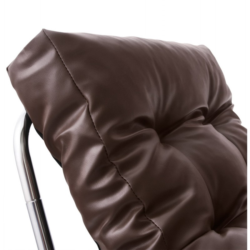 Design lounge armchair ISERE in polyurethane (Brown) - image 18395