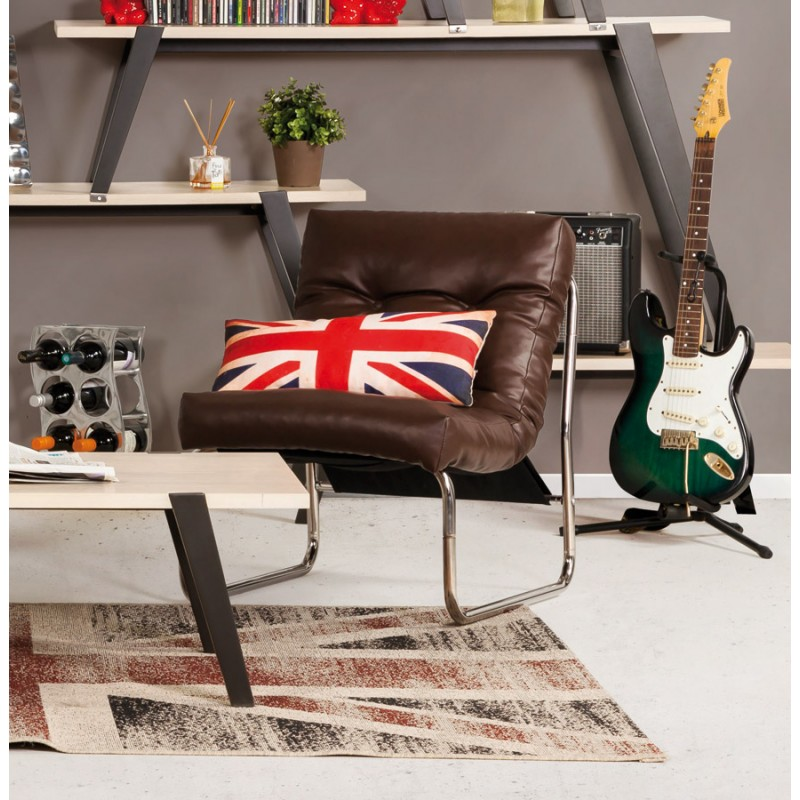 Design lounge Sessel ISERE polyurethan (braun) - image 18400